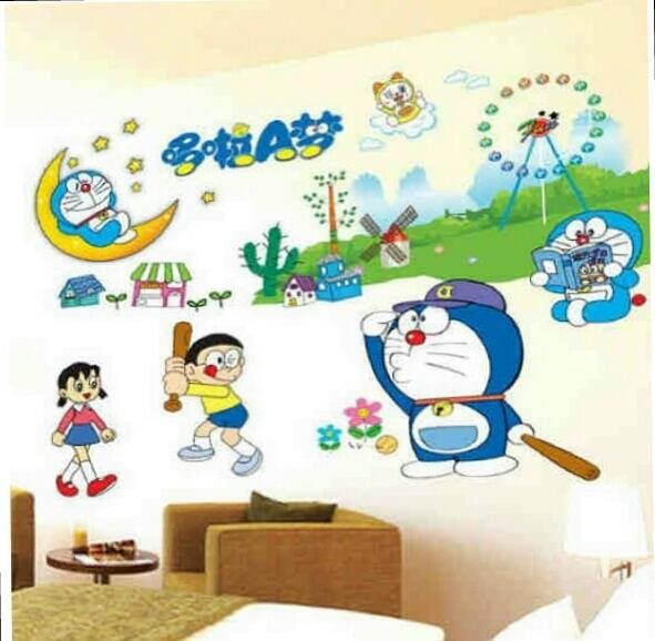 jual wall sticker doraemon baseball - kota surabaya - wallsticker