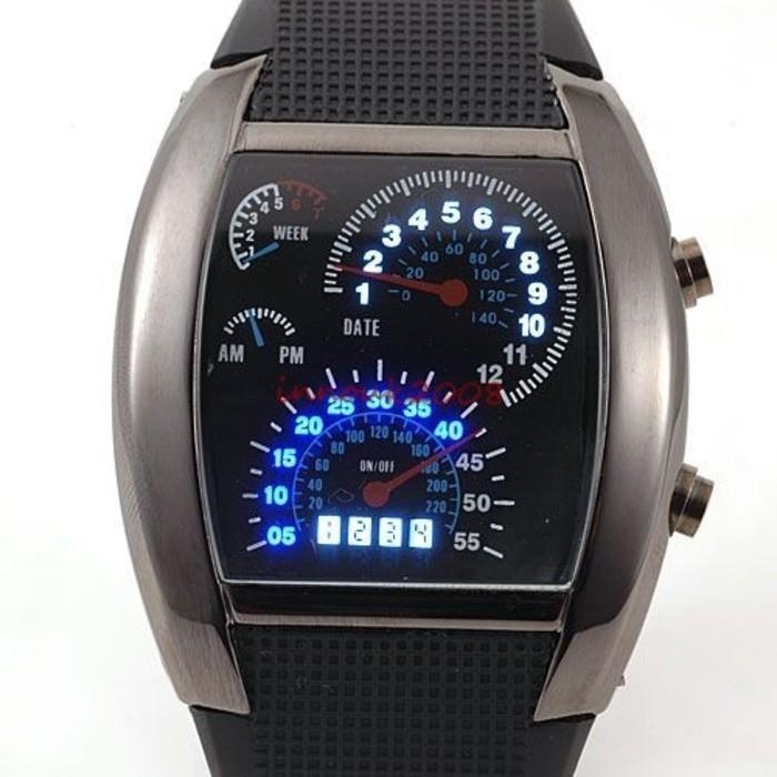 harga Jam tangan pria led digital speedometer tvg original full black Tokopedia.com