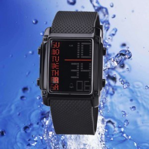 Jam Tangan Sport Digital LED Ohsen Rubber Waterproff (Renang) Warna Hitam  Anti Gores 9efde3ff99