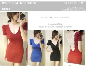 harga Sexy back dress (red/blue/black) - 12807 Tokopedia.com