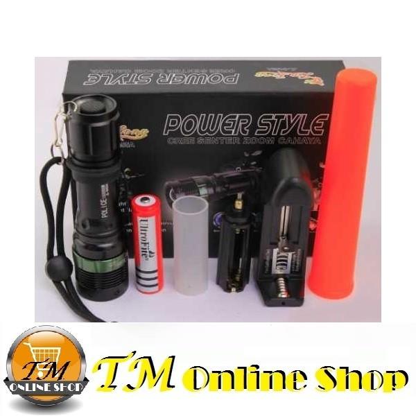 harga Senter police swat mini led zoom q5 powerstyle jl-8455 150000 watt +baterai recharge ultrafire 18650+charger desktop usb+lalin Tokopedia.com