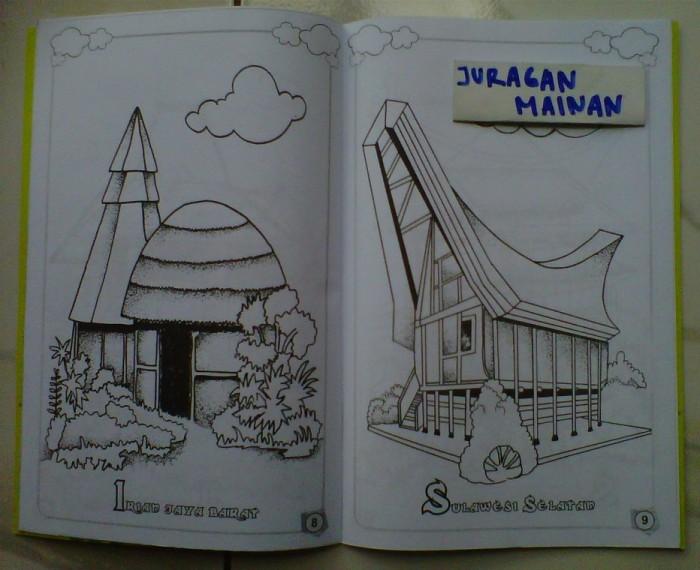 Jual Buku Mewarnai Rumah Adat Daerah Kota Depok Juragan Mainan