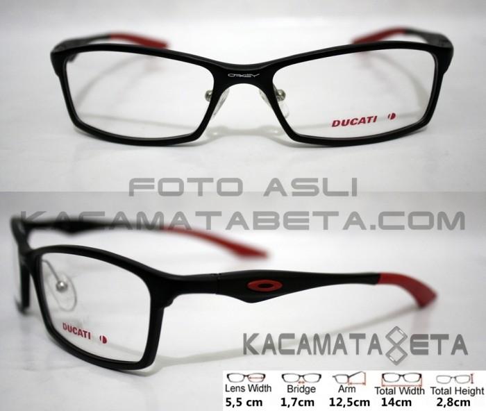 08750391af Jual Frame Kacamata Oakley 0117 (Premium Quality) Black Ducati ...