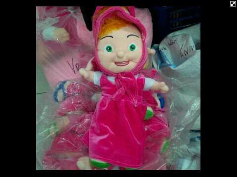 harga Boneka marsha bear tokoh kartun televisi jilbab hijab anak edukasi masha 40cm velboa dacron reseller barang unik Tokopedia.com