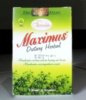 Maximus Diet Herbal Melancarkan BAB