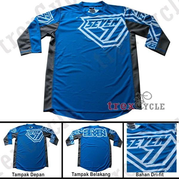 Jual Jersey Sepeda Seven7 DirtTrek Blue SevenSeven - Kab. Bogor ... 7e545747d