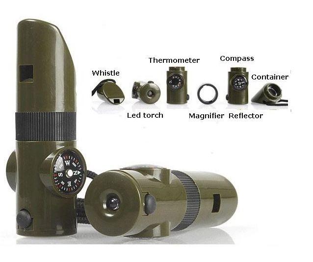 Foto Produk Pluit Multifungsi Senter LED Kompas Kaca Pembesar Termometer - FL115 dari Helfia Store