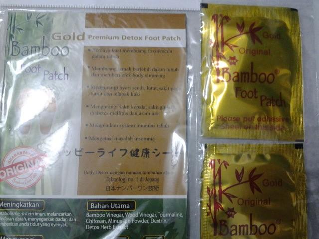 Koyo Kaki Bamboo Gold Original - Bambo Foot Patch Detox Premium The Best Quality (Toxin, Diabetes, Asam Urat, Rheumatik, Alergi)