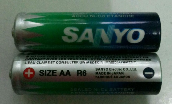 batre sanyo 700 mah kw