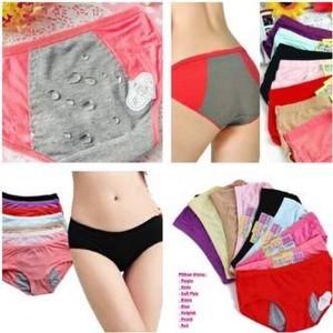 celana dalam menstruasi cewek all size karet rubber haid datang bulan anti  tembus bocor cd mens khusus kesehatan alat kelamin 53360b768a