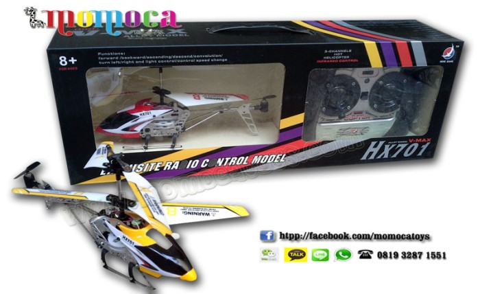 Jual Mainan Helicopter Remote Control Rc 3 Channel Momoca Tokopedia