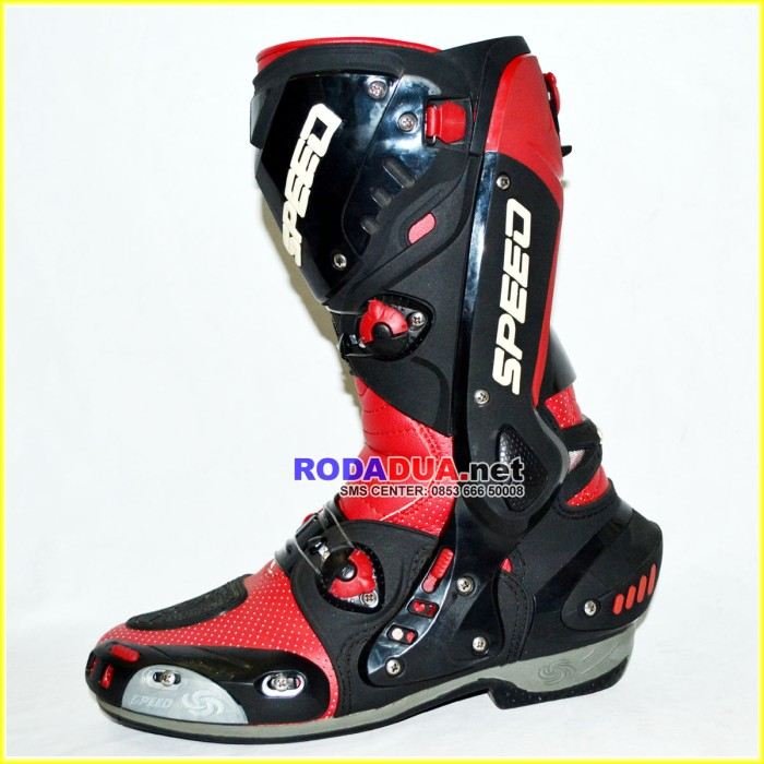 Jual Sepatu Touring SPEED B1003 RED - RODADUA.NET  6c10239026