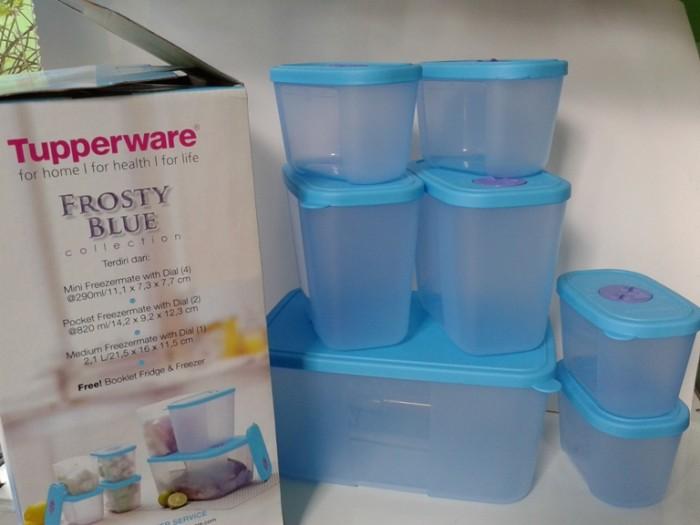 Wadah makanan Tupperware Frosty Blue Collection