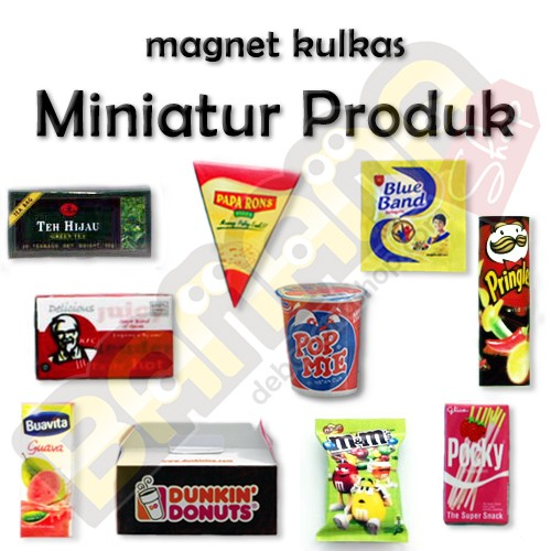 harga Magnet kulkas - miniatur produk (paket 5) Tokopedia.com