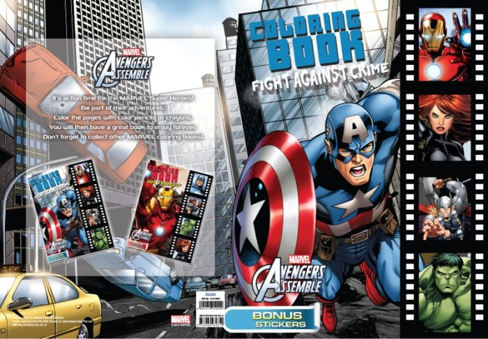 Jual Coloring And Activity Book Marvel Avengers Fight Against