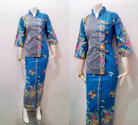 Jual Model Baju Batik Gamis Modern Diana Series Batik Bagoes