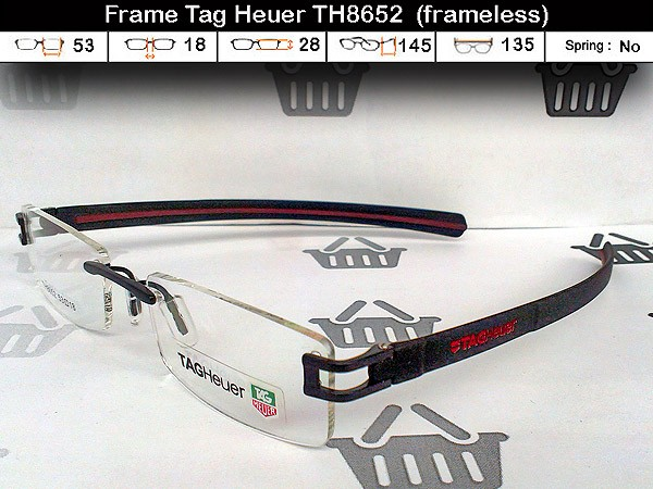 Frame Kacamata Tag Heuer TH8652 (termasuk lensa (+ -) max 4 tanpa silinder) 7015eb3b25