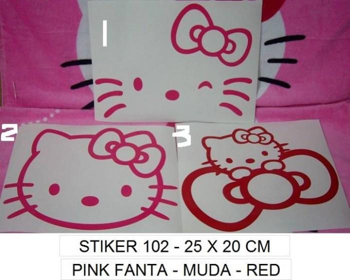 Stiker kaca mobil hello kitty v0102