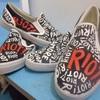 Jual sepatu lukis bisa glow in the dark - sepatu lukis ARt  37a053556c