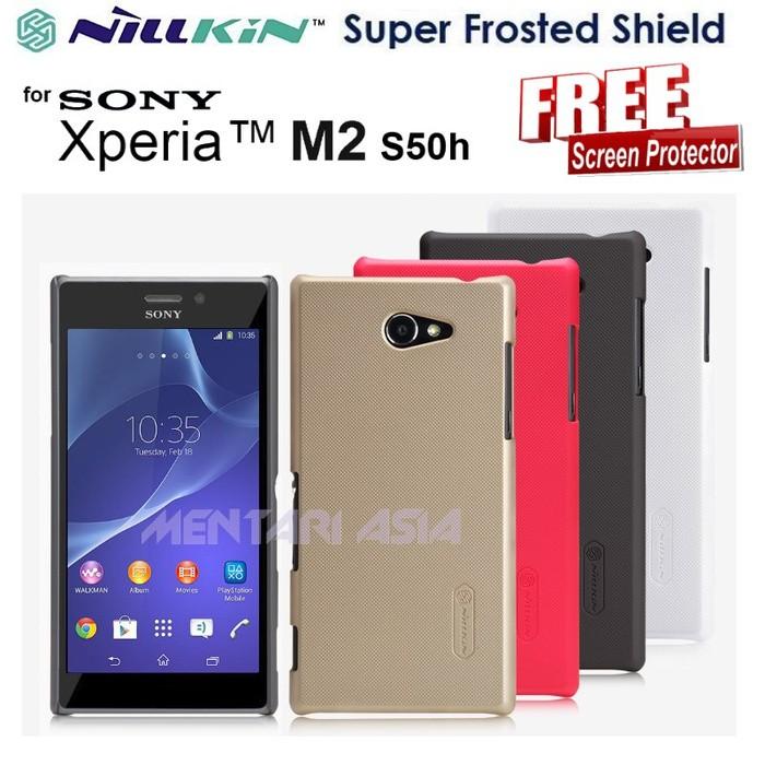 harga Hardcase sony xperia m2 (s50h) : nillkin super frosted shield ( + free sp) Tokopedia.com