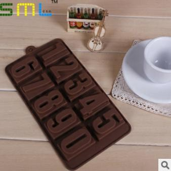 Cetakan kue / puding / cokelat / es batu berbentuk angka (10 kotak)