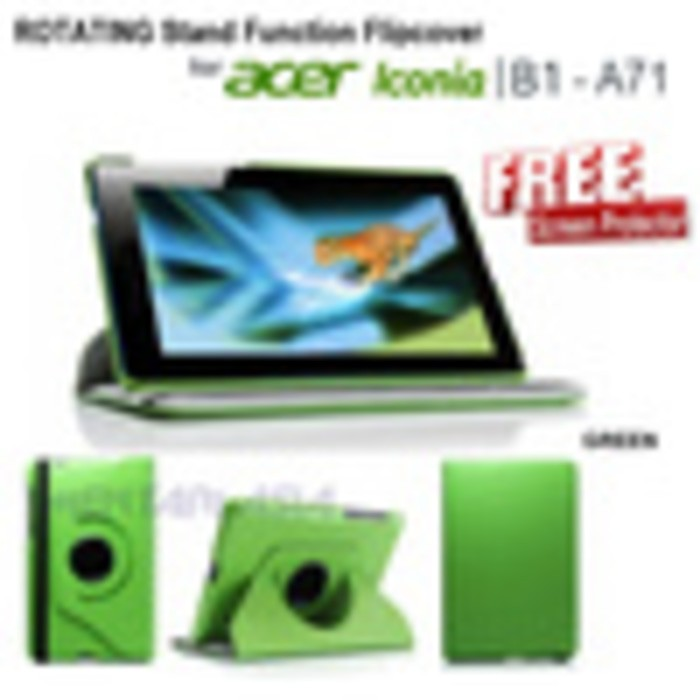 harga Flipcover for acer iconia b1-a71 : rotating pu leather stand function case ( + free sp) Tokopedia.com