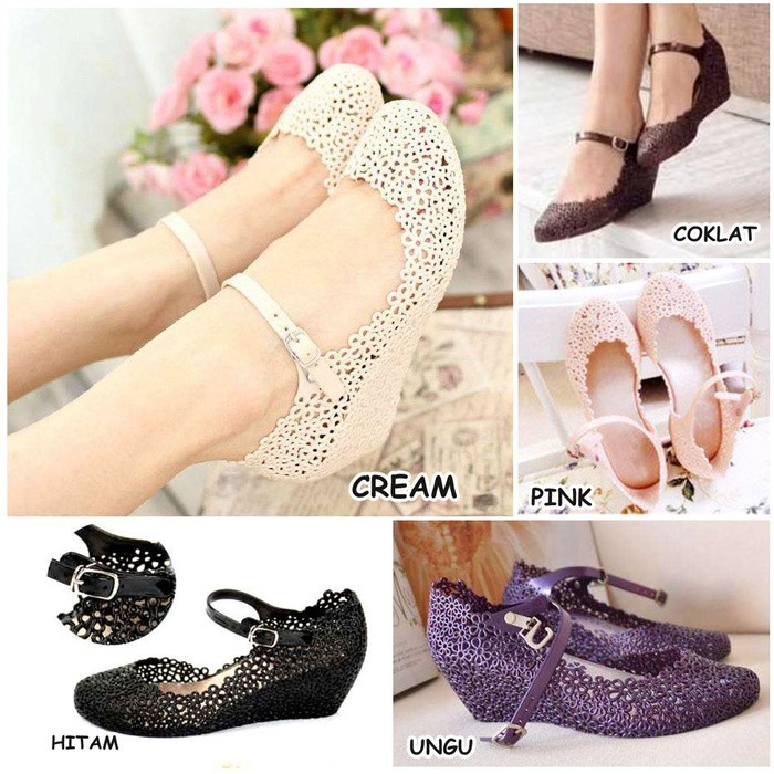 harga Wedges jelly shoes vivienne weswood Tokopedia.com