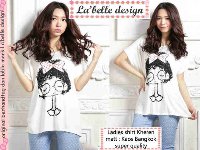 Kaos santai ladies shirt kheren - supplier baju murah ecer grosir reseller  dropship supplier barang unik c3d5ed7136
