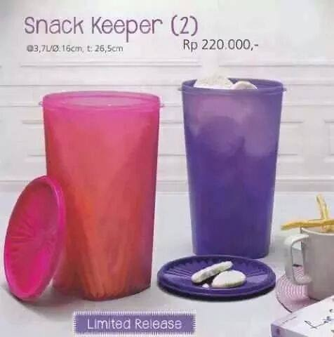 TUPPERWARE SNACK KEEPER satuan (UNGU)