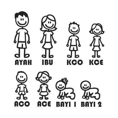 Mirzan Blog S 30 Ide Gambar Kartun Family Ayah Ibu Kaka Abang Ade