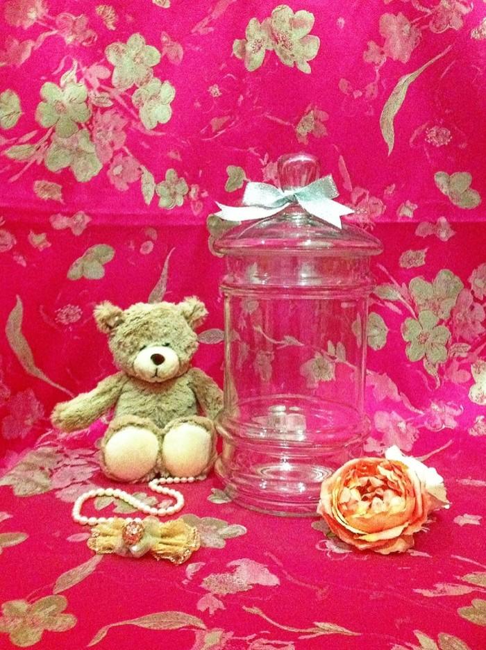 harga Aj1052 - apothecary jar / vase / toples gelas kaca cantik Tokopedia.com