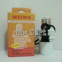 harga Fitting lampu sensor cahaya otomatis (photocell lamp holder with automatic light sensor) meiwa Tokopedia.com