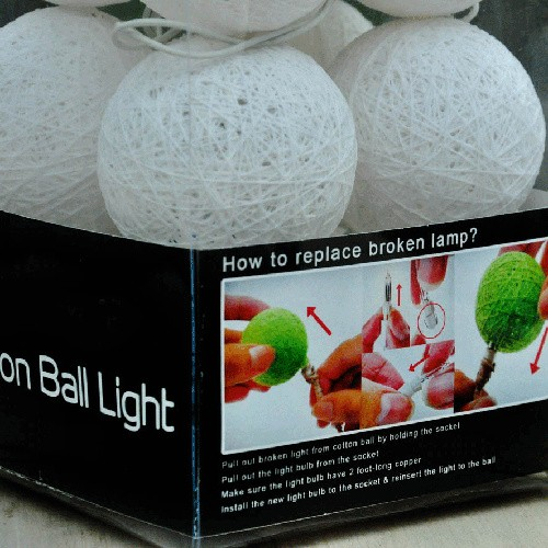 Jual Jual Cotton Ball Light Lamp Lampu Hias Unik Untuk