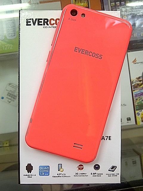 Home Evercoss A7e 4gb Peach A7E Quadcore 1 3Gz LCD 4 0 34 RAM 512Mb