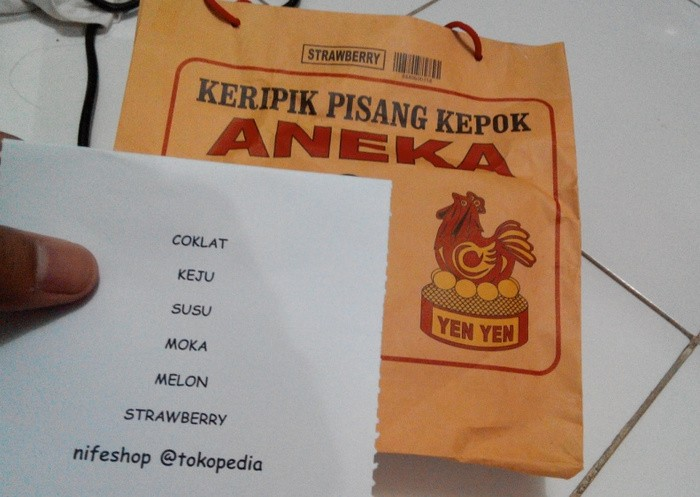 Keripik Pisang Aneka Yen-yen Asli Lampung(Kepok)