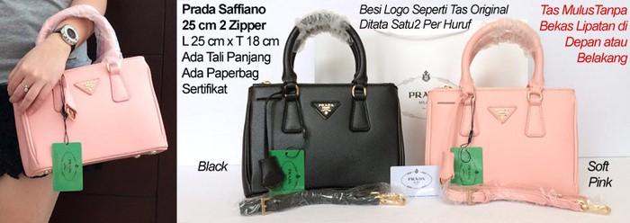 fd3f943e86e2 Jual Prada Saffiano 25 cm 2 Zipper - zazatas | Tokopedia