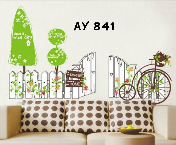 jual wall sticker uk.60x90 wall stiker pagar sweet home - kota