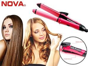 Catok Rambut NOVA 2in1 bisa curly dan lurus