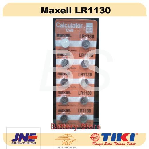Baterai Kancing Maxell LR1130 (LR 1130) - Kalkulator - Remote - Jam !