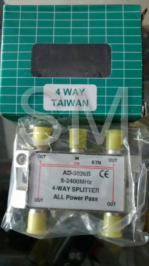 harga Splitter tv (televisi) 4 way taiwan merk ktn ad-3026b Tokopedia.com