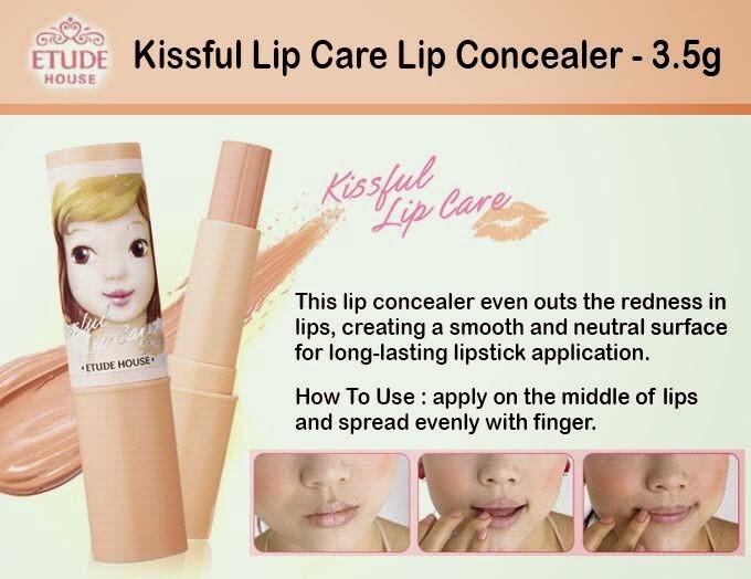 harga Etude house - kissful lip care lip concealer 3.5gr Tokopedia.com