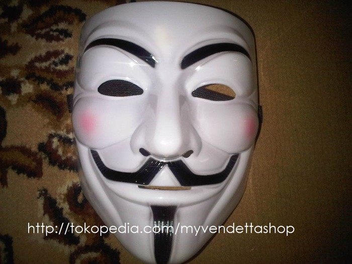 ... PLASTIK TAHAN LAMA TOPENG HALLOWEEN PESTA KOSTUM COSPLAY TOPENG VENDETTA MASK OCCUPY ANONYMOUS COSPLAY PUTIH. Topeng Anonymous (Guy Fawkes | Vendetta) ...