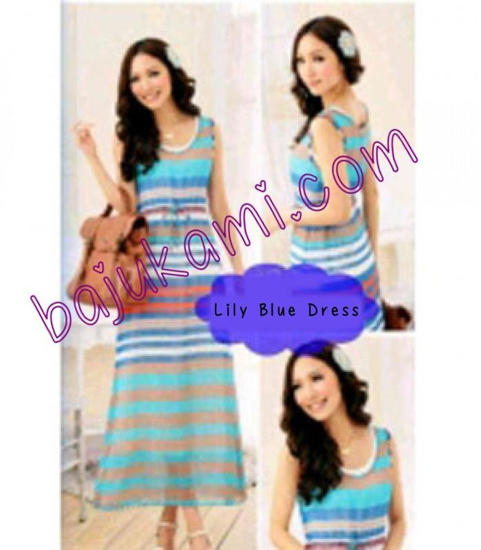 Foto Produk Lily Blue Dress dari Baju Kami