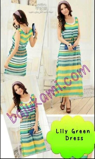 Foto Produk Lily Green Dress dari Baju Kami