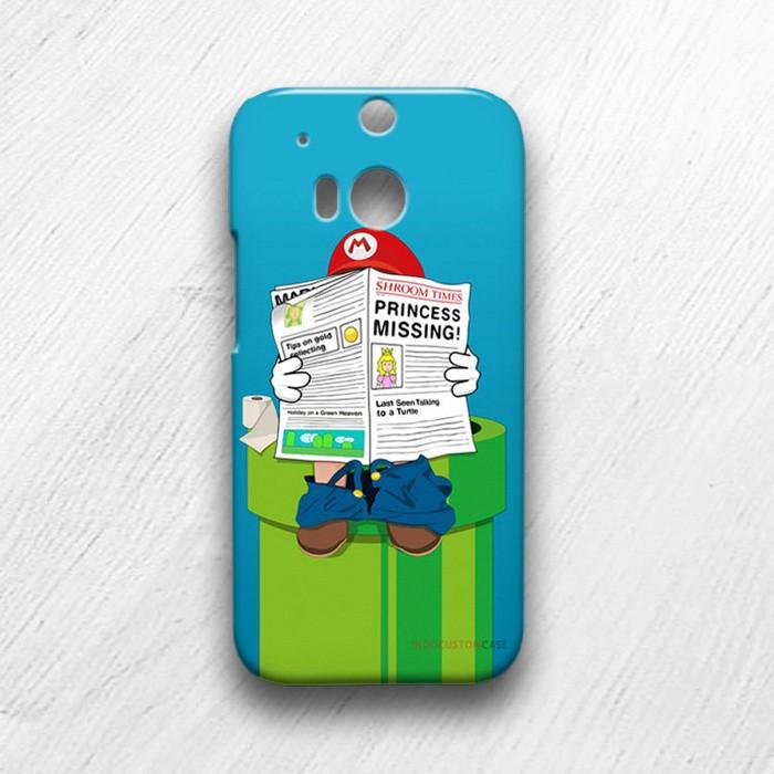 harga Mario bross is reading htc one m8 custom hard cover case Tokopedia.com