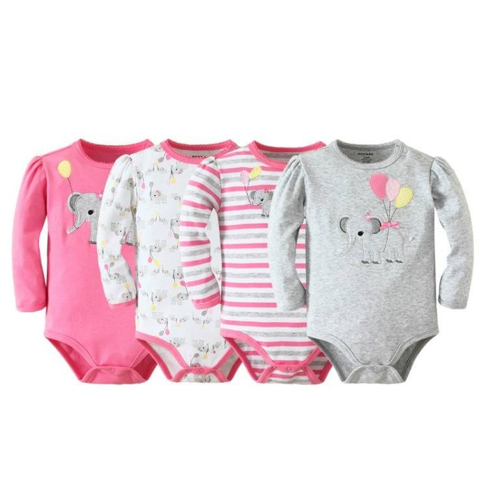 harga Mom and bab long jumper 4in1 s16 - pink grey elephant Tokopedia.com