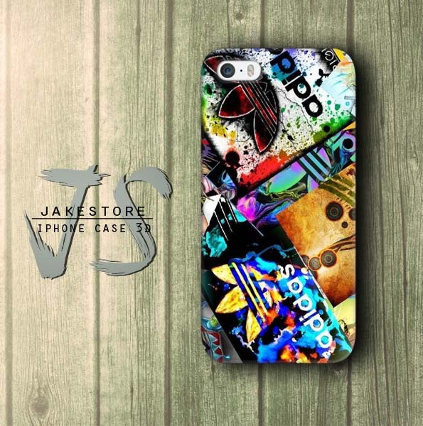 Jual Adidas Stickerbomb Wallpaper Iphone Case Apparel Clothing