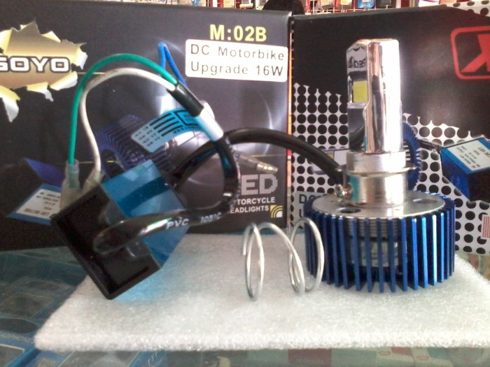 harga Lampu depan led 15/8w 6000k buat motor Tokopedia.com