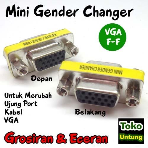 Mini Gender Changer - Gender VGA Female 15 Pin