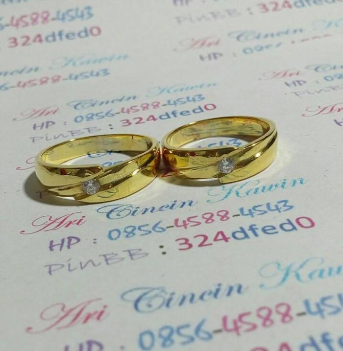 Jual Cincin Kawin Tunangan Emas 20 5gram No 734 Kota Yogyakarta Ari Cincin Kawin Tokopedia